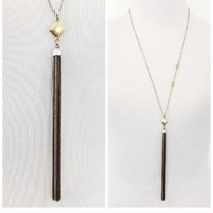 Lucky Brand Necklace Long Chain Tassel